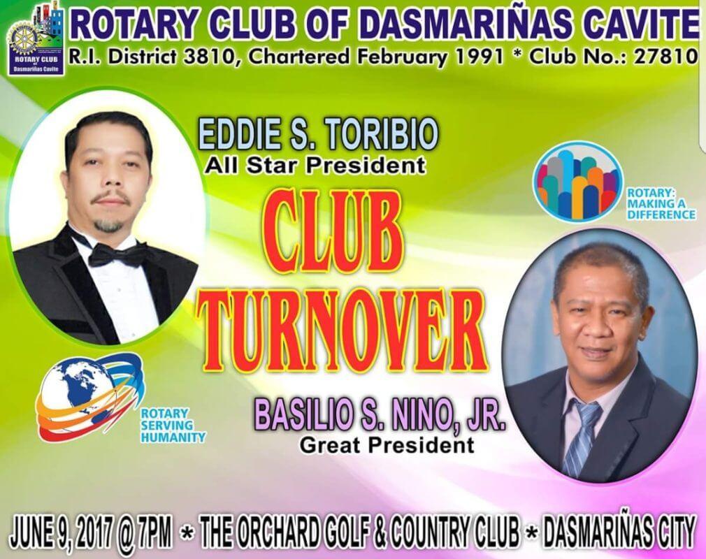 Rotary Club of Dasmariñas, Cavite Turn-Over Ceremony 2017